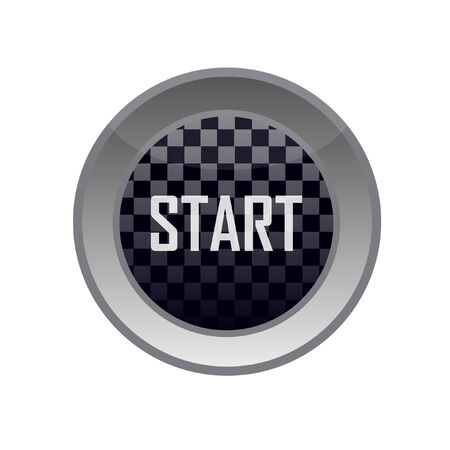 start button with squares flag Vector