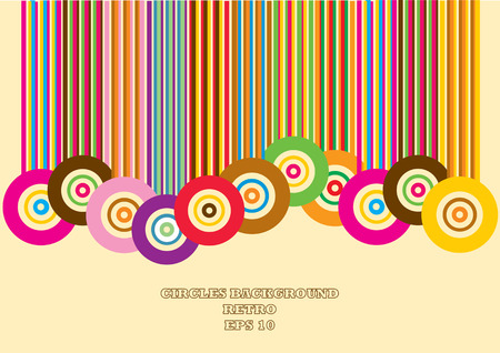 retro circles and lines background Vector