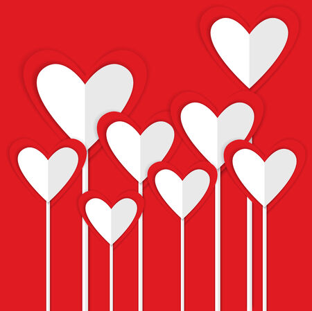 decorative vector paper hearts Vector