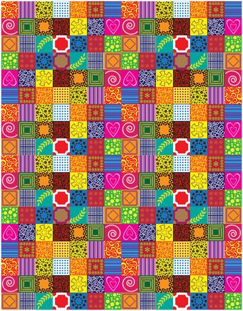 patchwork background: color patchwork background