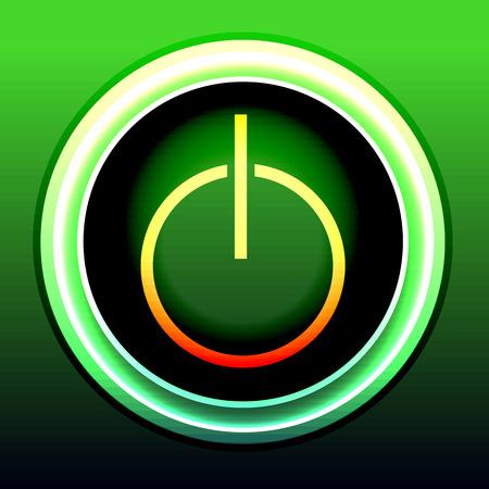 button computer: bot�n del ordenador colorido brillante Vectores