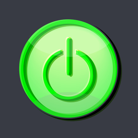 lighting button: lighting vector computer button symbol