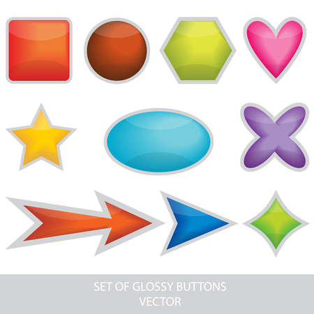 set of glossy vector buttons
