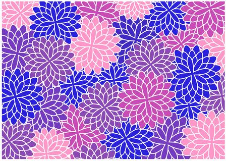 color vector retro flowers silhouettes Vector