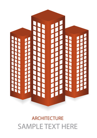 skyscrapers icons Vector