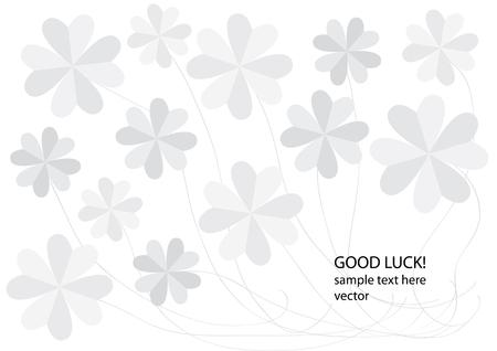 four leafs clover: tr�boles de papel vector de origami Vectores