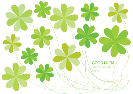 paper vector four leaf clovers Vector