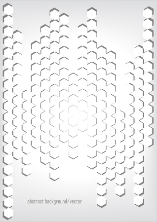 dimensional paper hexagons Illustration