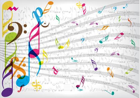 simbolos musicales: papel de notas de la m�sica de la vendimia