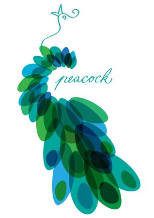 abstract vector peacock silhouette
