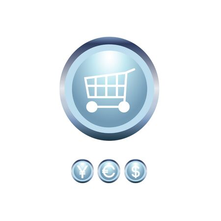 bright vector shopping icons and money concept Vector