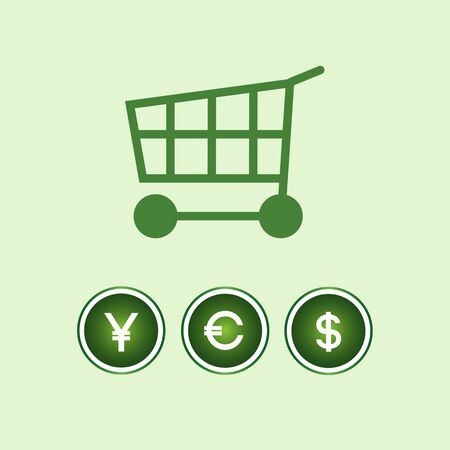 money icons: shoping concept with money icons