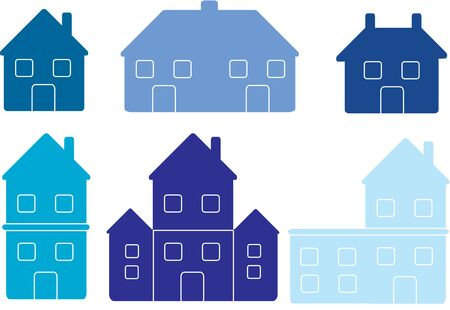country church: houses icons collection Illustration