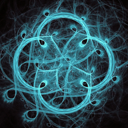 four leaf: azul fractal del tr�bol de cuatro hojas