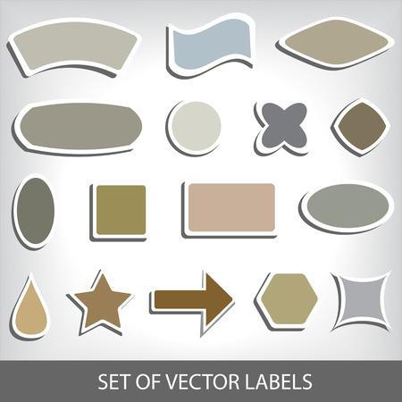 clover buttons: set of blank vector labels Illustration