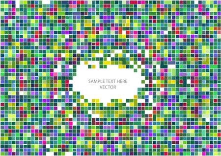 hypnotism: color del marco del vector del mosaico Vectores