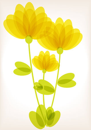 yellow flowers vintage background