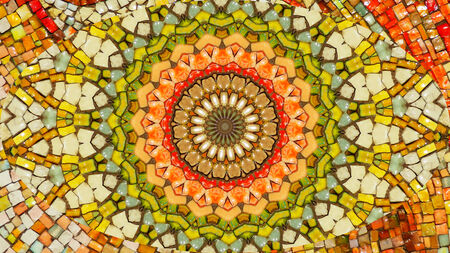 hypnotism: geometric mosaic tiles mandala background