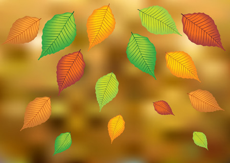 falling leaves: autumn vector background with falling leaves
