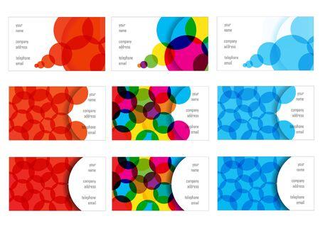 visiting: set of bright bubbles visiting cards