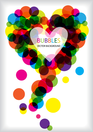 complimentary: colorful vector bubbles heart frame