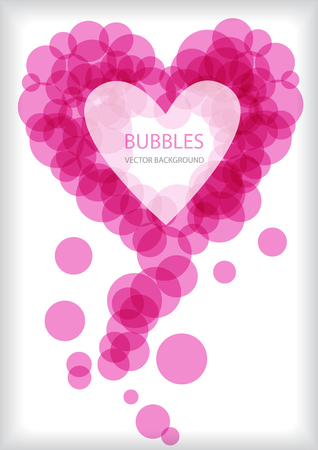 complimentary: pink vector bubbles heart with place for your text