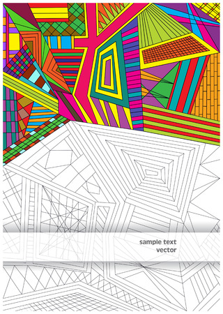 chaos: chaos vector lines and colors Illustration