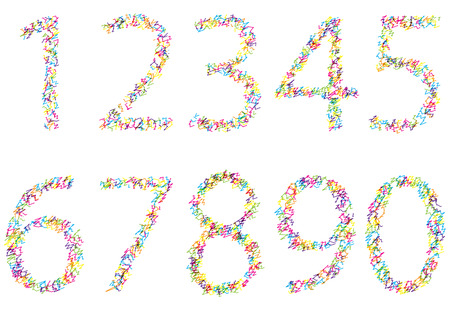 bright scribble numbers collection