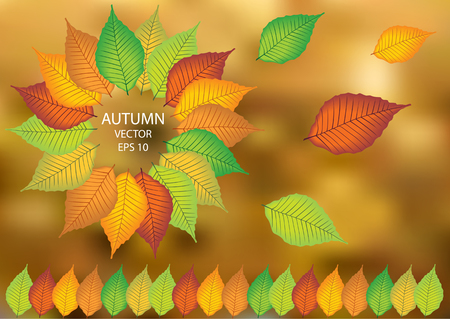 vector leafs windmill background