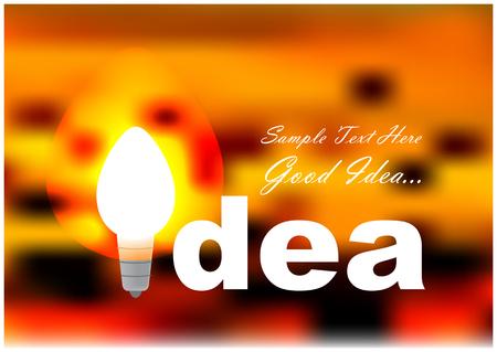 lighting bulb: idea illustration with lighting bulb