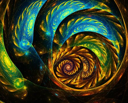 water lilly: bright fractal spiral