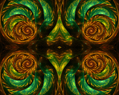 water lilly: color fractal spirals background