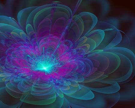 white lilly: fantasy fractal flower Stock Photo