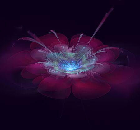 lotus effect: vibrant fractal flower