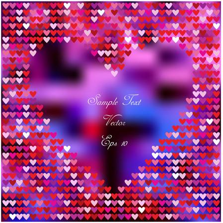bright: bright valentine card with hearts Illustration