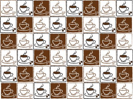 cappucino: bruine en witte koffie kopjes