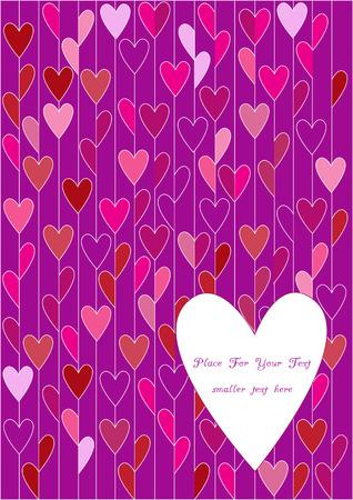 day saint valentin: bright hearts wallpaper Illustration