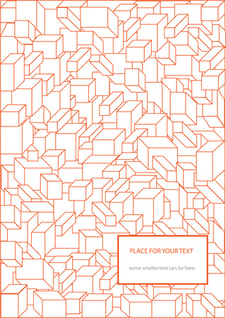 three dimensional: three dimensional cubes background Illustration