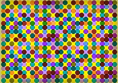retro circles: colorful retro circles background