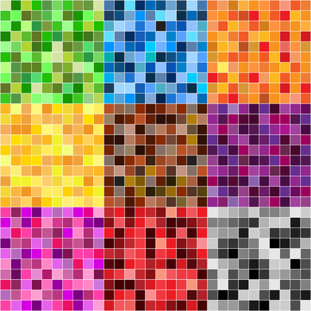 mosaic tiles: colorful mosaic tiles background Illustration