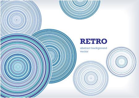 blue circles: Blue Vector retro circles Illustration