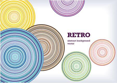 retro vector circles background