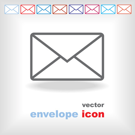 the envelope: modern vector envelope icon Illustration