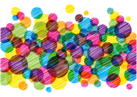 abstract scribble: abstract scribble bubbles Illustration