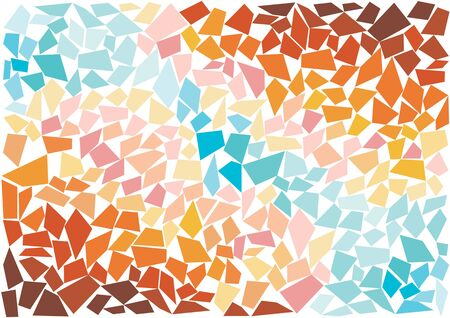vitrage: bright vector mosaic tiles Illustration