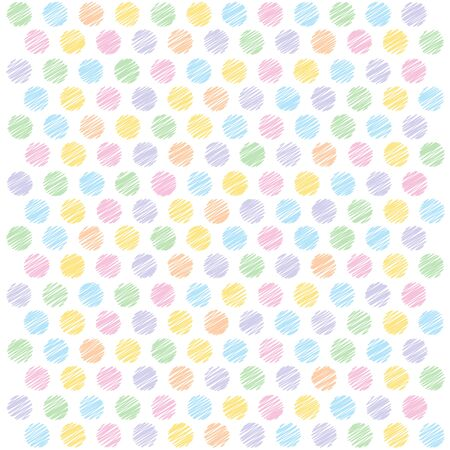 polka dots background: bright scribble polka dots background Illustration