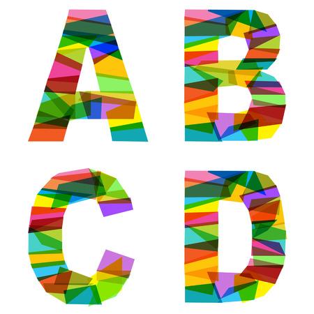rainbow alphabet letters collection