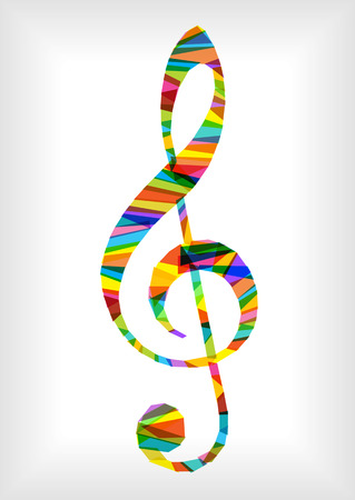 bright: bright vector music notes clef