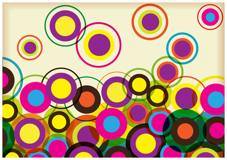 Abstract vector background with colorful circles