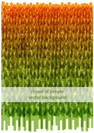 Bright vector crowd of people illustration, people silhouettes